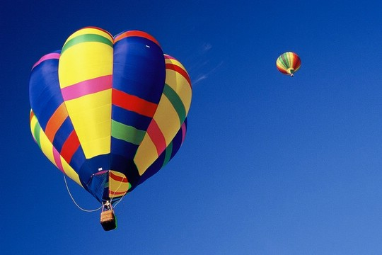 The picture I liked most... Clear blue sky and a colorful balloon!