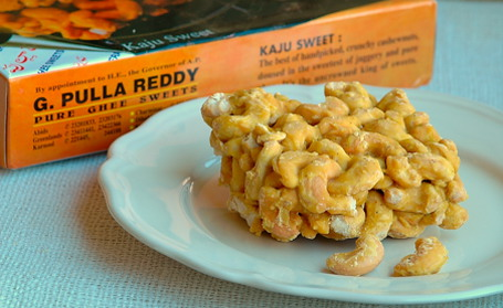 Kaju Sweet (Cashew Sweet) from G.Pulla Reddy Sweets, Hyderabad
