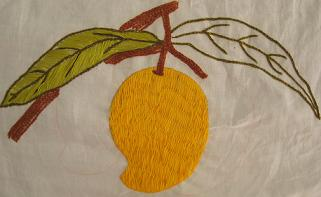 Mango Embroidery from Bonita of Curry Campaign