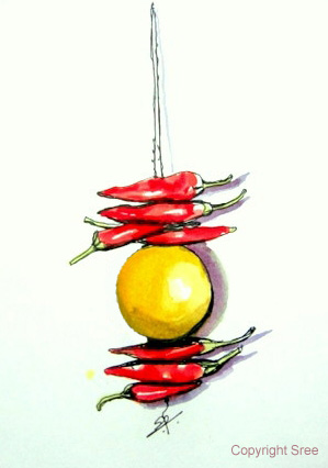 Chillies and Lemons