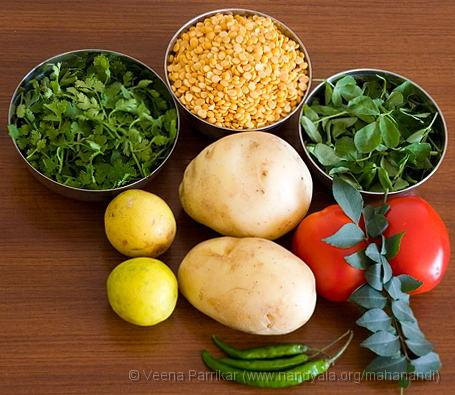 Ingredients for Pacha Sambar