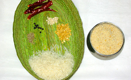Ingredients for Cracked Rice Meal