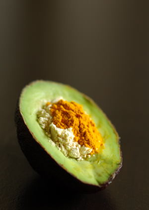 Avocado, Gram Flour and Turmeric