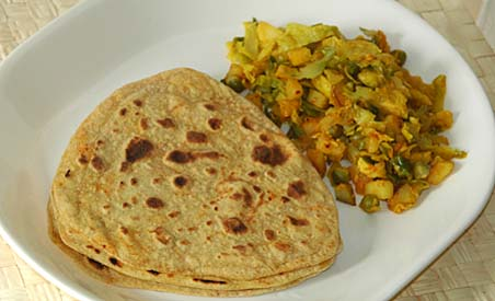 Avocado Chapatis with Brussel Sprouts Curry
