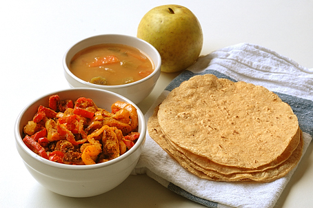 Mini Peppers Curry with Chapati