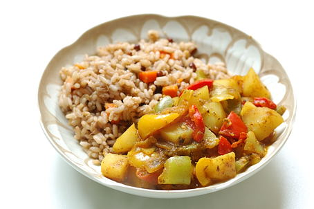Matta Rice with Pepper and Potatoes