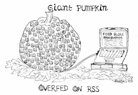 Overfed on RSS ~ Drawing by Indira Singari, Nov 3,07