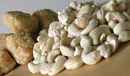 Cashews and Jaggery