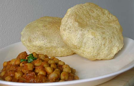 Chole Batura - Chana Masala with Puris