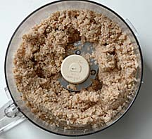 Powdering Almonds and Chestnuts in a Food Processor