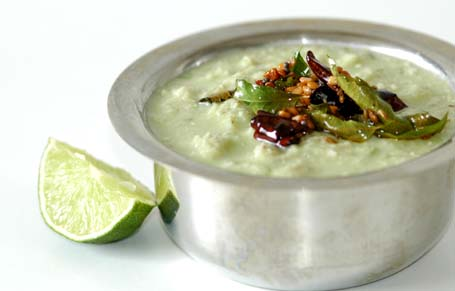 Coconut chutney with popu/tadka just added