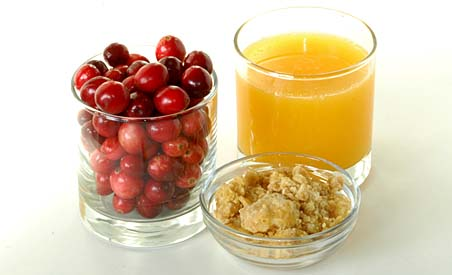 Cranberries, Orange Juice and Powdered Jaggery