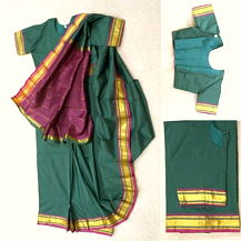 Children's Saree Dress with Matching Blouse in Green