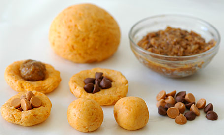 Chocolate Chips, Coconut Fudge, Sweet Potato-Gulab Jamun Dough & Dough ...