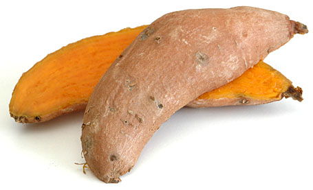 Steam-Cooked Sweet Potato