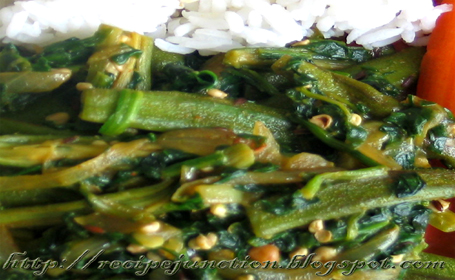 Spinach (Bhendi Palak) ~ from Seema of Recipe Juction