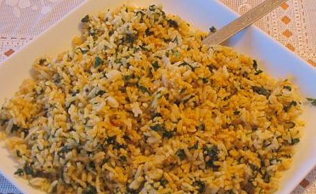 Methi Rice (Menthikura Annam) ~ from Latha of Masala Magic<br />
