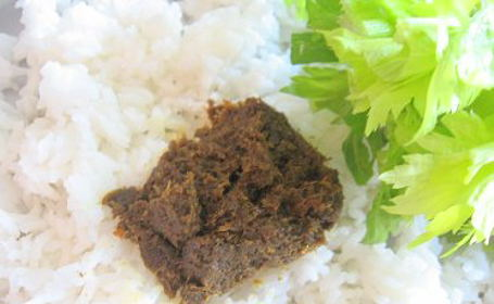 Celery Thokku ~ from Hema of Vegetarian Concoctions