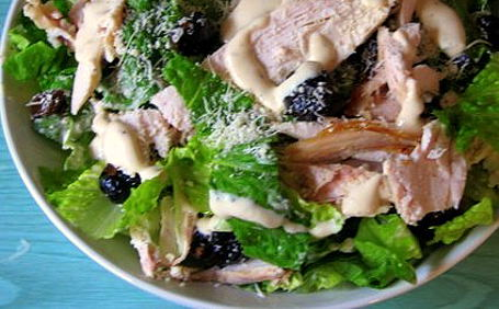 Lisa's Chicken Ceaser Salad ~ from Sajeda of Chachi's Kitchen