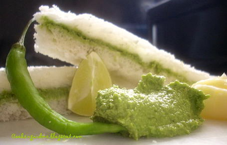 Kothamalli (Coriander) Chutney Sandwiches ~ from Nags of For the Cook in Me