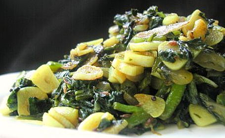 Lasooni Palak (Spinach Garlic Sabji) ~ from Sreelu of Sreelu's Tasty Travels