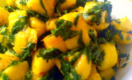 Methi Kela nu Shaak (Methi and Banana Curry) ~ from Richa of As Dear As Salt