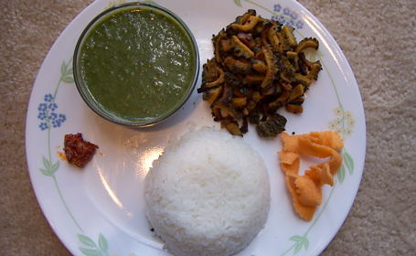 Palak Molaguthal for Green Lunch ~ from Deepa of Recipes N More