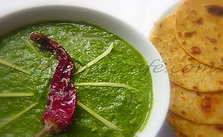 Sarson Ka Saag ~ From Coffee of The Spice Cafe