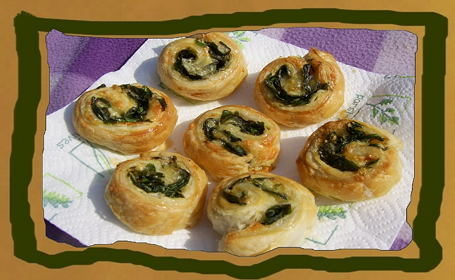 Spinach-Cheese Rolls ~ from Sunita of Sunita's World