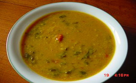 Keera (Spinach) Sambar ~ Meera of Meera's Blog