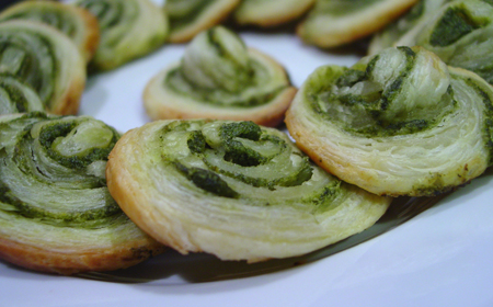 Spicy Spirals with Green Cilantro Chutney ~ from Manisha of Indian Food Rocks