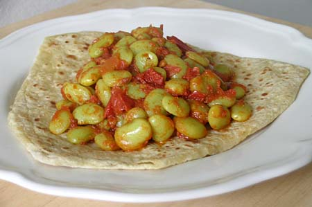 Lima Beans Curry with Chapati