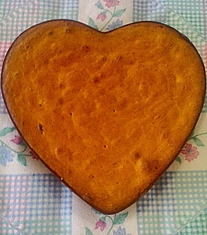 Banana-Walnut Cake Baked in Heart Shape by Prabalini