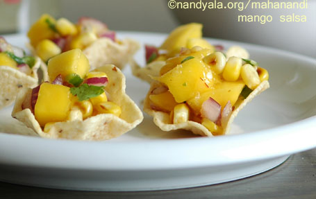 Mango Salsa and Tortilla Chips