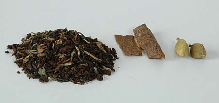Tea Leaves, Indian Cinnamon Bark and Cardamom