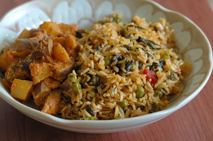 Healing Herbal Rice with Brown Basmati