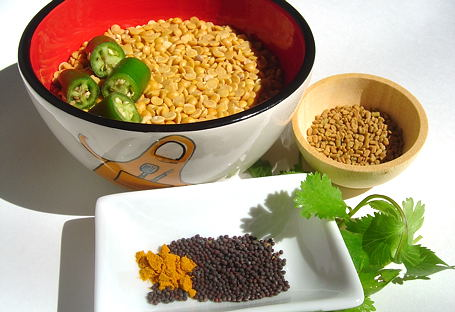 Ingredients for Dal-Methi ~ from Anjali's Kitchen