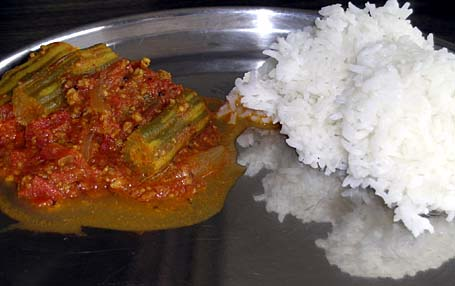 Drumstick Curry and Rice