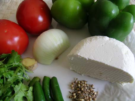 Kadai Paneer Ingredients