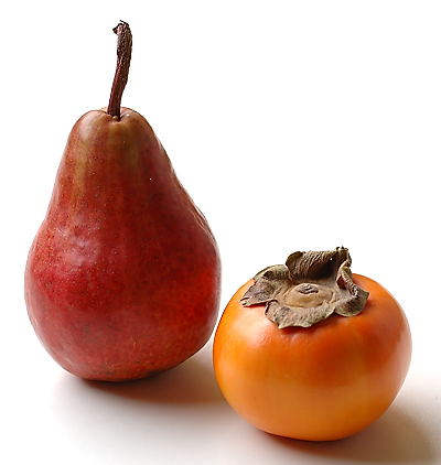 Pear and Persimmon ~ Pleasant Fruits of Autumn Season