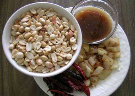 Peanut chutney ingredients