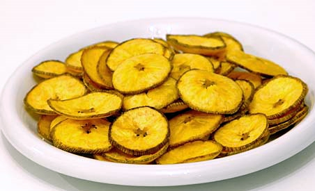 Homemade Plantain chips (banana chips)