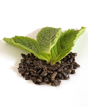 Mint Leaves with Gunpowder Tea