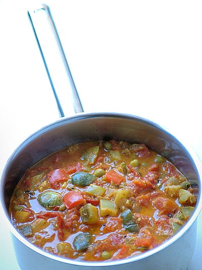 Cheeseless and Cheerful, India Inspired Ratatouille