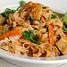 Rice Noodles with Tofu in Fiery Peanut Sauce