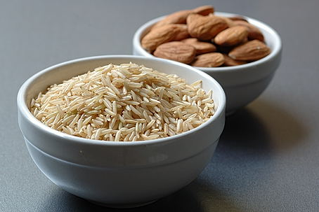 Brown Basmati Rice and Almonds