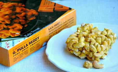 Cashew Sweet from G.Pulla Reddy Sweet Shop from Hyderabad