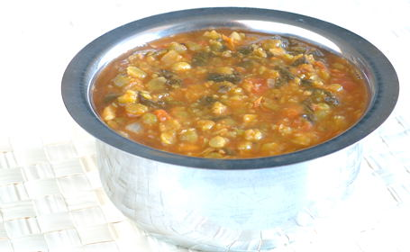 Split Pea - Spinach Stew