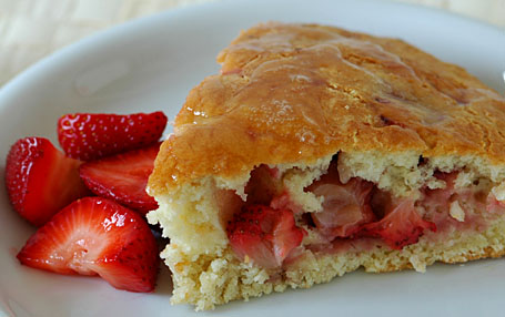 Strawberry- Mango Scone with Lemon Glaze