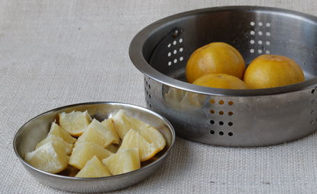 Steam-Cooked Mitha Nimboo/Sweet Lemons ~ Ready for Pickling